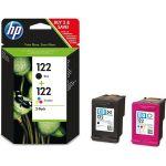 Набор картриджей для HP Deskjet 1000, 1050, 1050A, 1510, 2000, 2050, 2050A, 3000, 3050, 3050A (CR340HE №122) (цветной, черный)