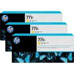 Картридж для HP Designjet Z6200 (B6Y34A №771C) (желтый) (775 мл) (3 шт)