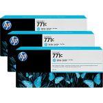 Картридж для HP Designjet Z6200 (B6Y36A №771C) (светло-голубой) (775 мл) (3 шт)