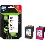 Комплект картриджей для HP Deskjet D1663, D2563, D2663, D5563, F2423, F2483, F2493, F4275, F4283, F4853, HP Photosmart C4683, C4783, ENVY110 (HP CN637HE №121 ) (черный, цветной)