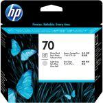 Печатающие головки для HP DesignJet Z2100, Z3100, Z3200, PhotoSmart Pro B8850, B9180 (C9407A №70) (фото черный, светло-серый)