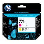 Головка печатающая HP 771 Designjet CE018A пурпурный/желтый