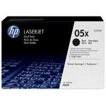 Картридж черный HP 05X (двойной) LaserJet P2055 (2x6,5K)