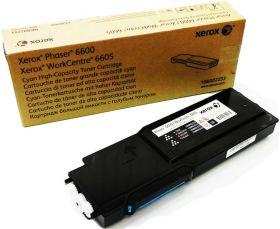 Тонер-картридж голубой (106R02233) Xerox Phaser 6600/WC 6605, оригинальный (6K)
