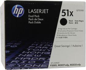 Картридж Hewlett-Packard  для LaserJet P3005/M3035mpf/M3027mpf в двойной упаковке чёрный