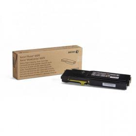 Тонер-картридж желтый (106R02235) Xerox Phaser 6600/WC 6605, оригинальный  (6K)