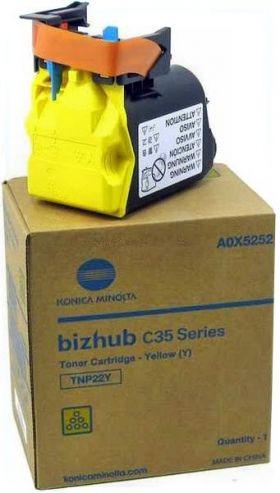 Тонер-картридж Konica Minolta TNP-22Y (A0X5252) лазерный жёлтый для Bizhub c35p