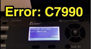 Ошибка C7990 Kyocera