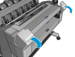 Как заменить картриджи в плоттерах HP T930, HP T1530